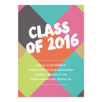 Bright Diamonds Graduation Invite
