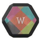 Bright Diamonds Monogram Black Bluetooth Speaker
