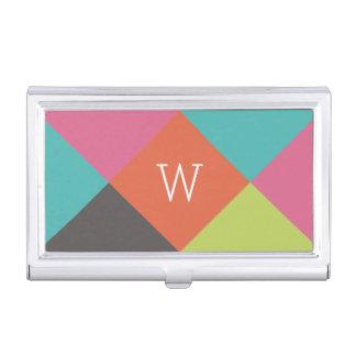 Bright Diamonds Monogram Business Card Holder