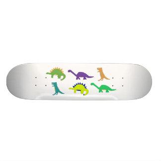 Bright Dinos skateboard (natural)