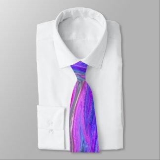 Bright Double Color Abstract Men's Tie