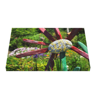 Bright Driftwood Flower Canvas Print