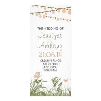 bright elegant wildflowers wedding programs