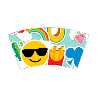 Bright Emoji Sticker Pattern Paper Cup