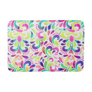 Bright extravaganza festive carnival color burst bathroom mat