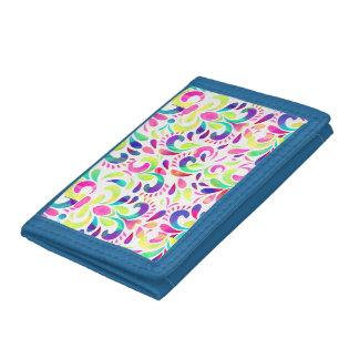 Bright extravaganza festive carnival color burst tri-fold wallets