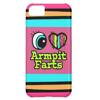 Bright Eye Heart I Love Armpit Farts Case For iPhone 5C