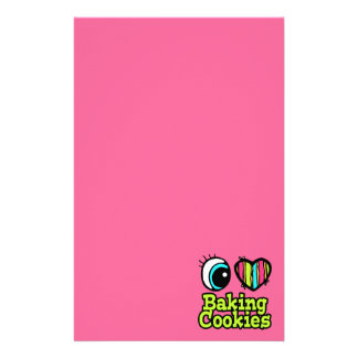 Bright Eye Heart I Love Baking Cookies Stationery