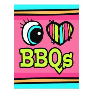 Bright Eye Heart I Love BBQs Flyer