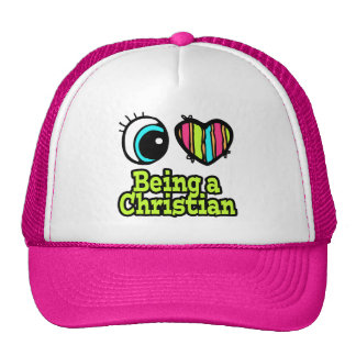 Bright Eye Heart I Love Being a Christian Hats