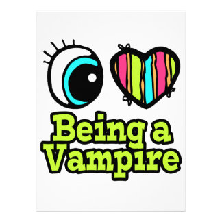 Bright Eye Heart I Love Being a Vampire Custom Invites