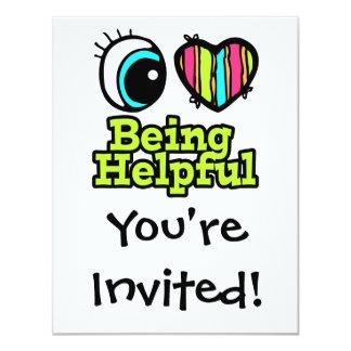 "Bright Eye Heart I Love Being Helpful 4.25"" X 5.5"" Invitation Card"