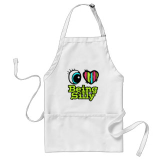 Bright Eye Heart I Love Being Silly Standard Apron