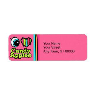 Bright Eye Heart I Love Candy Apples Return Address Label