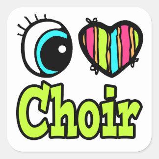 Bright Eye Heart I Love Choir Square Sticker