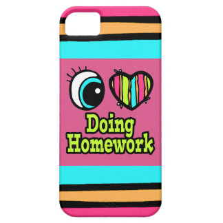 Bright Eye Heart I Love Doing Homework iPhone 5 Case