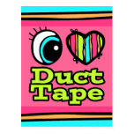Bright Eye Heart I Love Duct Tape Post Cards