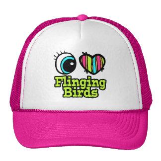 Bright Eye Heart I Love Flinging Birds Trucker Hat