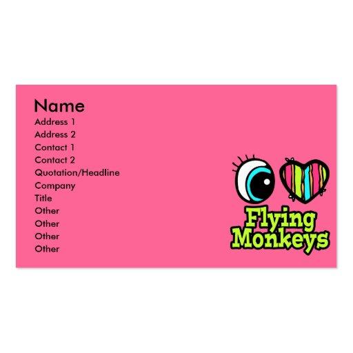 Bright Eye Heart I Love Flying Monkeys Business Cards