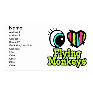 Bright Eye Heart I Love Flying Monkeys Pack Of Standard Business Cards