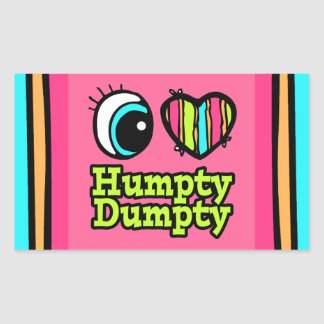 Bright Eye Heart I Love Humpty Dumpty Sticker