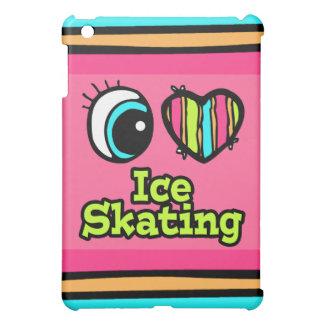 Bright Eye Heart I Love Ice Skating Cover For The iPad Mini