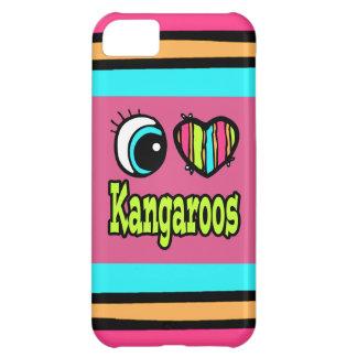 Bright Eye Heart I Love Kangaroos Cover For iPhone 5C