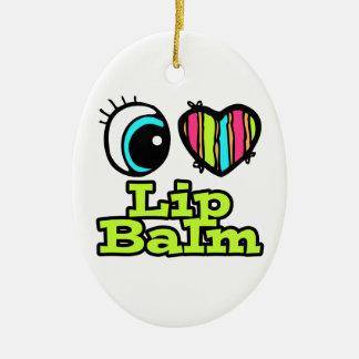 Bright Eye Heart I Love Lip Balm Ceramic Ornament
