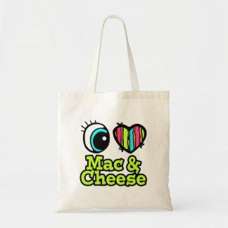 Bright Eye Heart I Love Mac and Cheese Canvas Bag