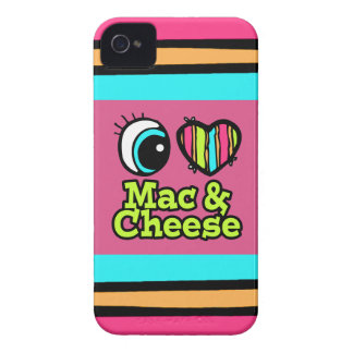 Bright Eye Heart I Love Mac and Cheese iPhone 4 Case-Mate Cases