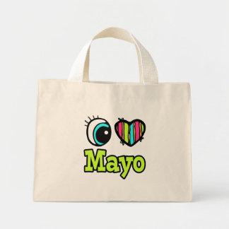 Bright Eye Heart I Love Mayo Mini Tote Bag