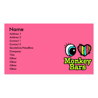 Bright Eye Heart I Love Monkey Bars Double-Sided Standard Business Cards (Pack Of 100)