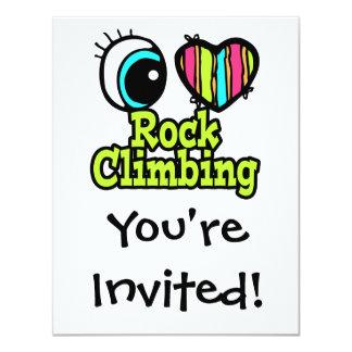 Bright Eye Heart I Love Rock Climbing Card