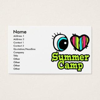 Bright Eye Heart I Love Summer Camp Business Card