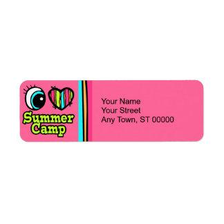 Bright Eye Heart I Love Summer Camp Return Address Label