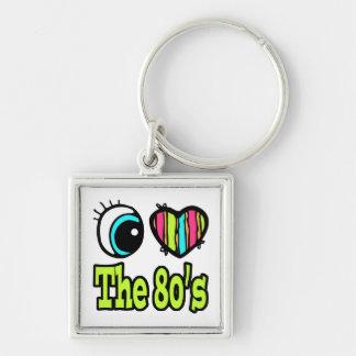 Bright Eye Heart I Love the 80s Key Chains