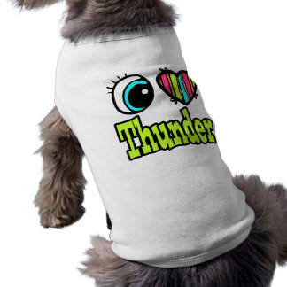 Bright Eye Heart I Love Thunder Doggie Tshirt