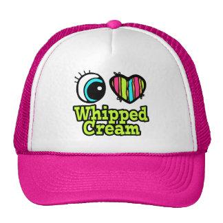 Bright Eye Heart I Love Whipped Cream Trucker Hat
