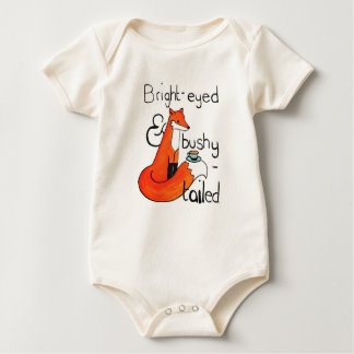 Bright-eyed and bushy-tailed baby bodysuit