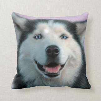 Bright-eyed Husky Drawing Pillow