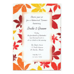 Bright Fall Leaves Wedding Rehearsal Dinner