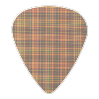 Bright Fall Plaid Acetal Guitar Pick