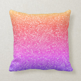 Bright Faux Glitter Glamour Sparkly Sparkles Glam Throw Pillow