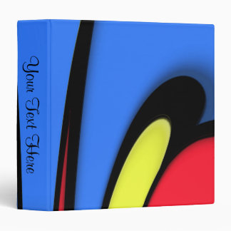 Bright  Festive Color Name 3 Ring Binders