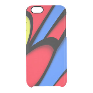 Bright  Festive Colors Clear iPhone 6/6S Case