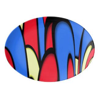 Bright  Festive Colors Porcelain Serving Platter