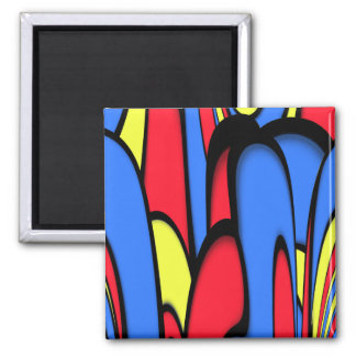 Bright  Festive Colors Square Magnet