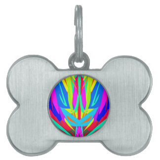 Bright Festive Symmetrical Abstract Pattern Pet Tag