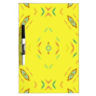 Bright Festive Yellow Pattern Dry Erase Board