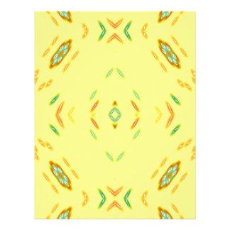 Bright Festive Yellow Pattern Letterhead Template